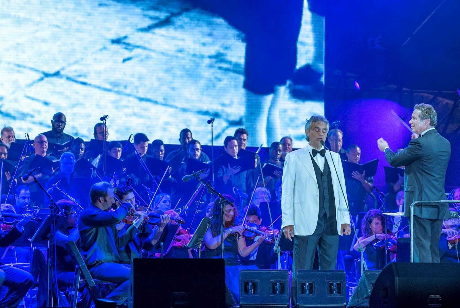 Miami Symphony Orchestra Plays with Andrea Bocelli at 100 Years Anniversary of Miami Beach