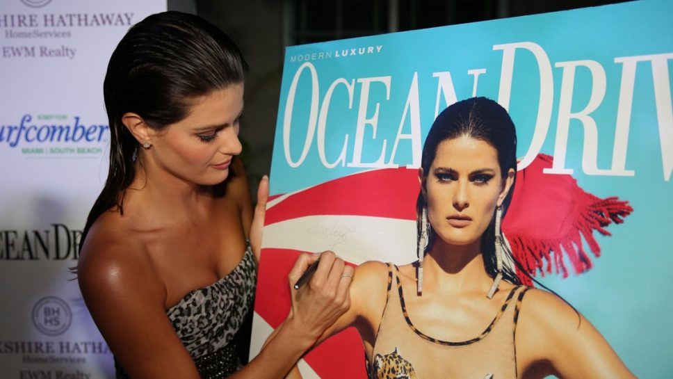 Ocean Drive Magazine Kicked off Miami Swim Week with Supermodel Isabeli Fontana