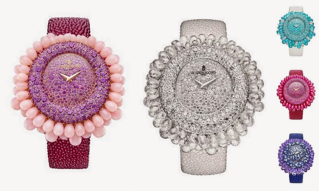 de GRISOGONO Launches Five Timepieces for Dazzling Grappoli Collection‏
