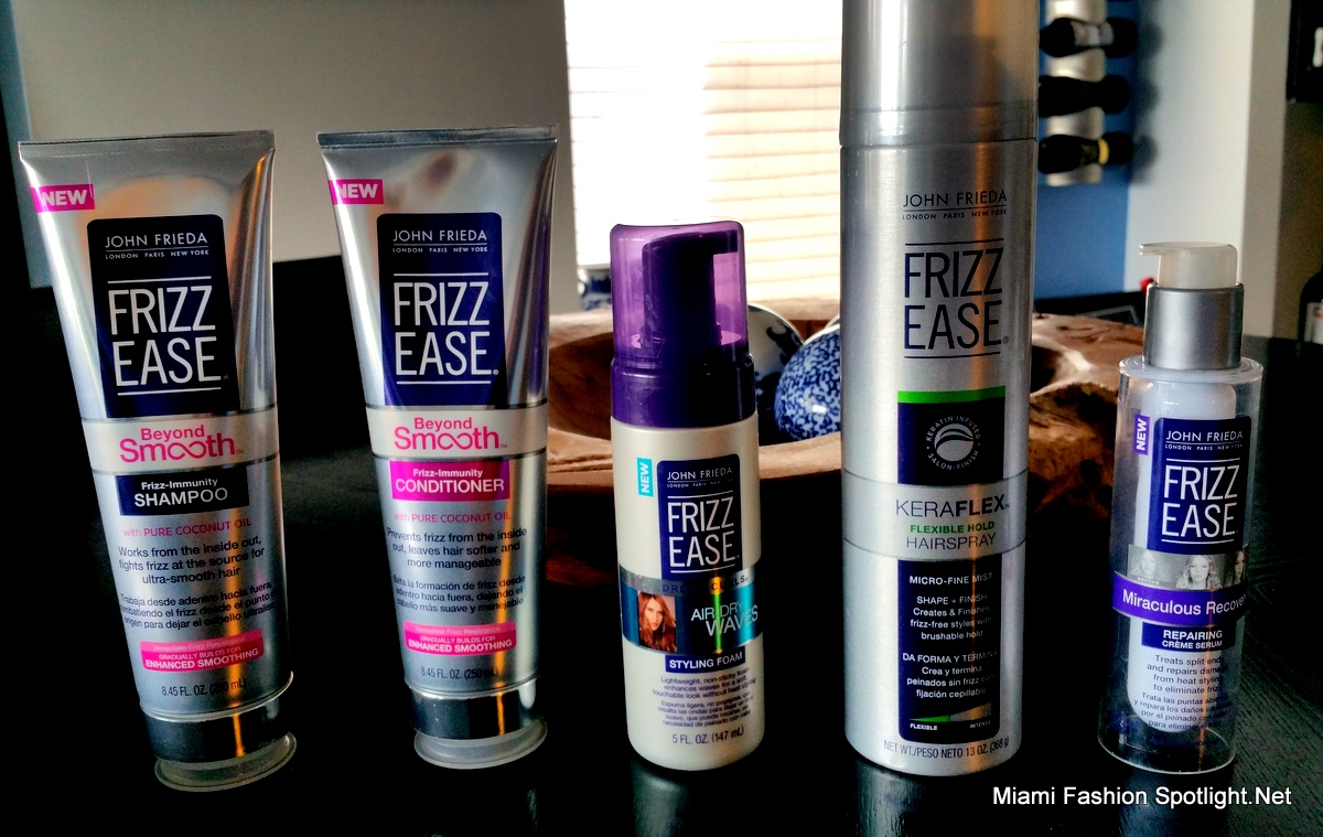 The new Frizz-Ease products by John Frieda.