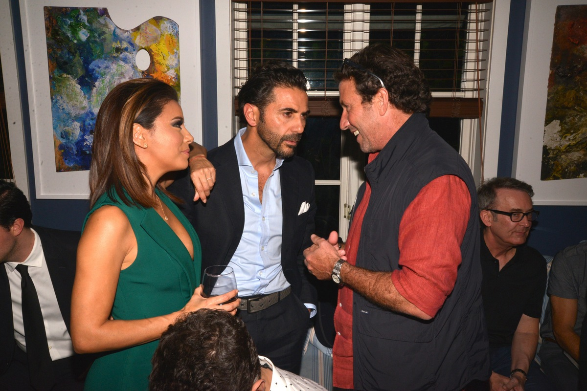 Eva Longoria, Jose Antonio and Miky Grendene. Photo used with permission from Tara INK.