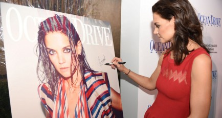 Ocean Drive Magazine Hosts Art Of The Party with Katie Holmes