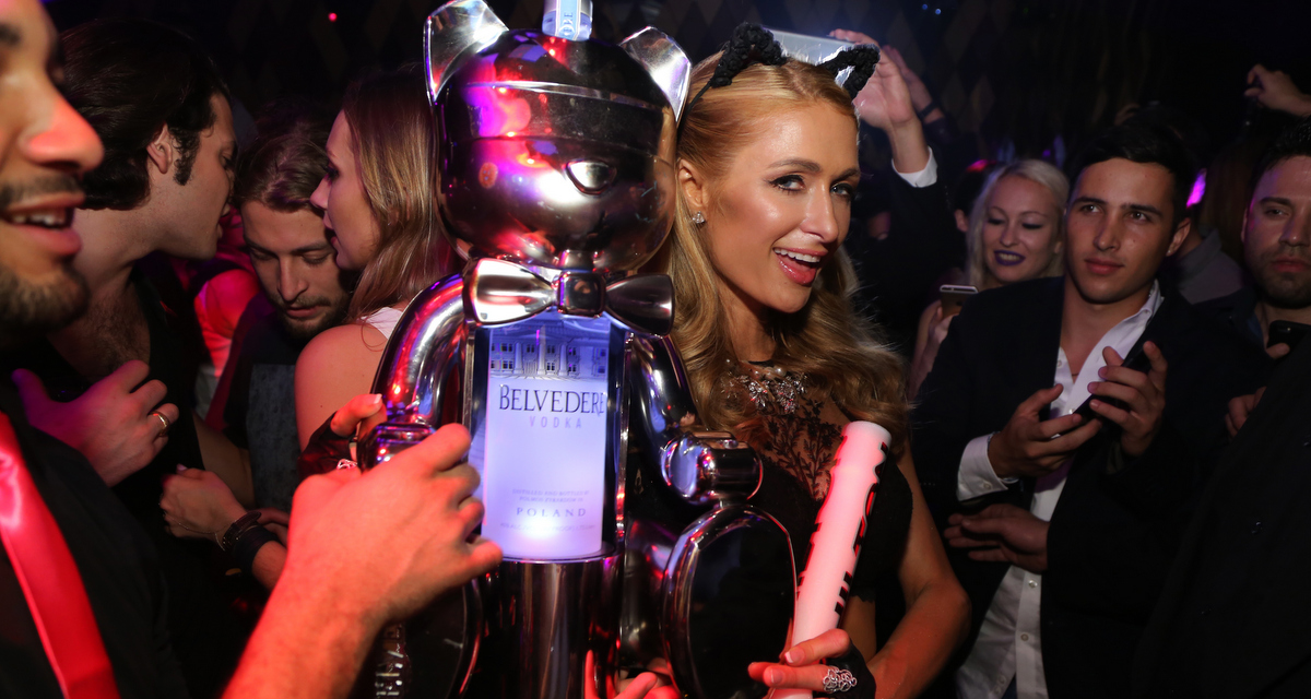 Paris Hilton DJs Wall Miami