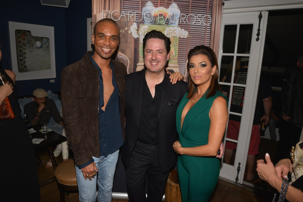 Travis London, Ricardo Barroso and Eva Longoria. Photo used with permission from Tara INK.