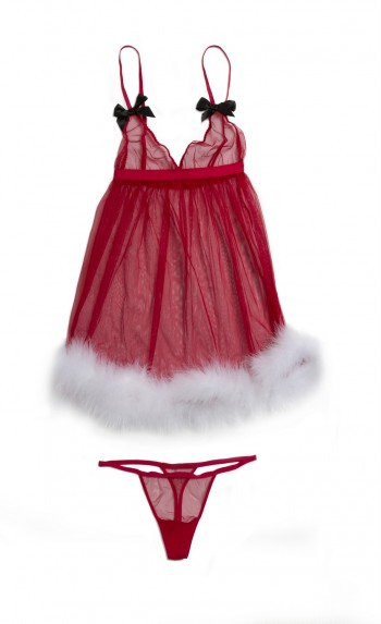 Lady in red: 10 Sexiest looks from Holiday 2015 Victoria's Secret Lingerie