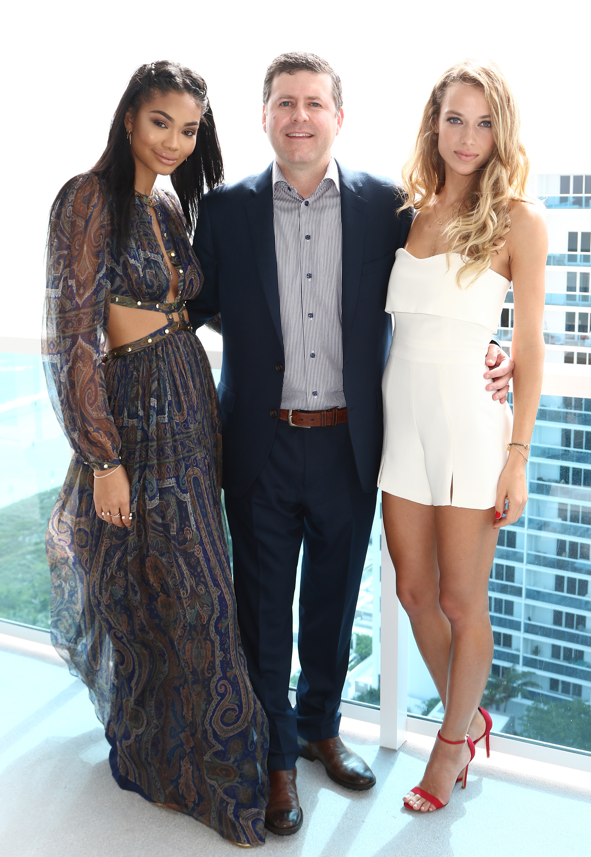 Chanel Iman, Brendan Ripp, and Hannah Ferguson