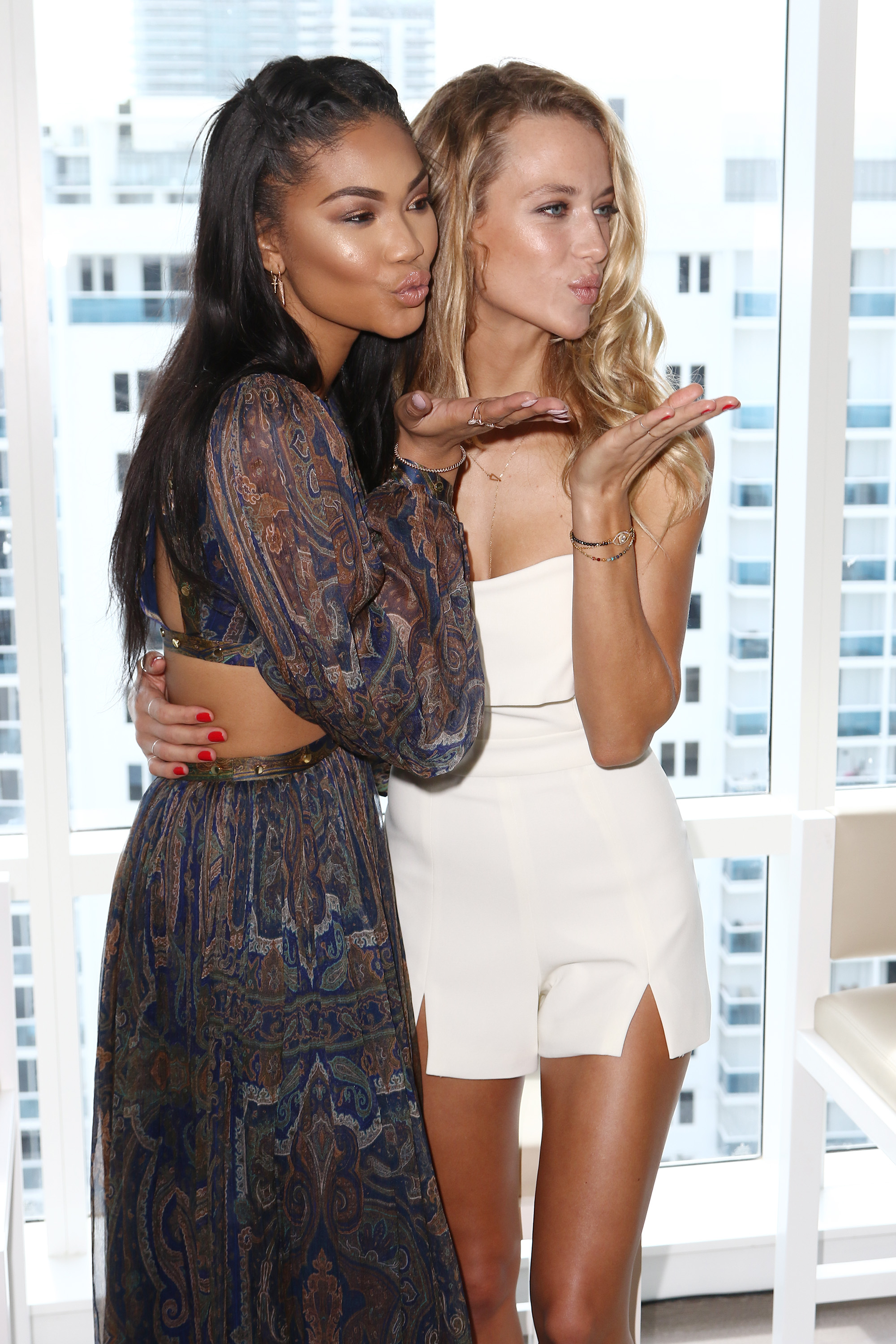 Sports Illustrated Swimsuit Models Hannah Ferguson and Chanel Iman reveal SI Swimsuit 2016 launch week events in Miami at 1 Hotel & Homes South Beach Photo Credit: Alexander Tamargo/Getty Images for Sports Illustrated