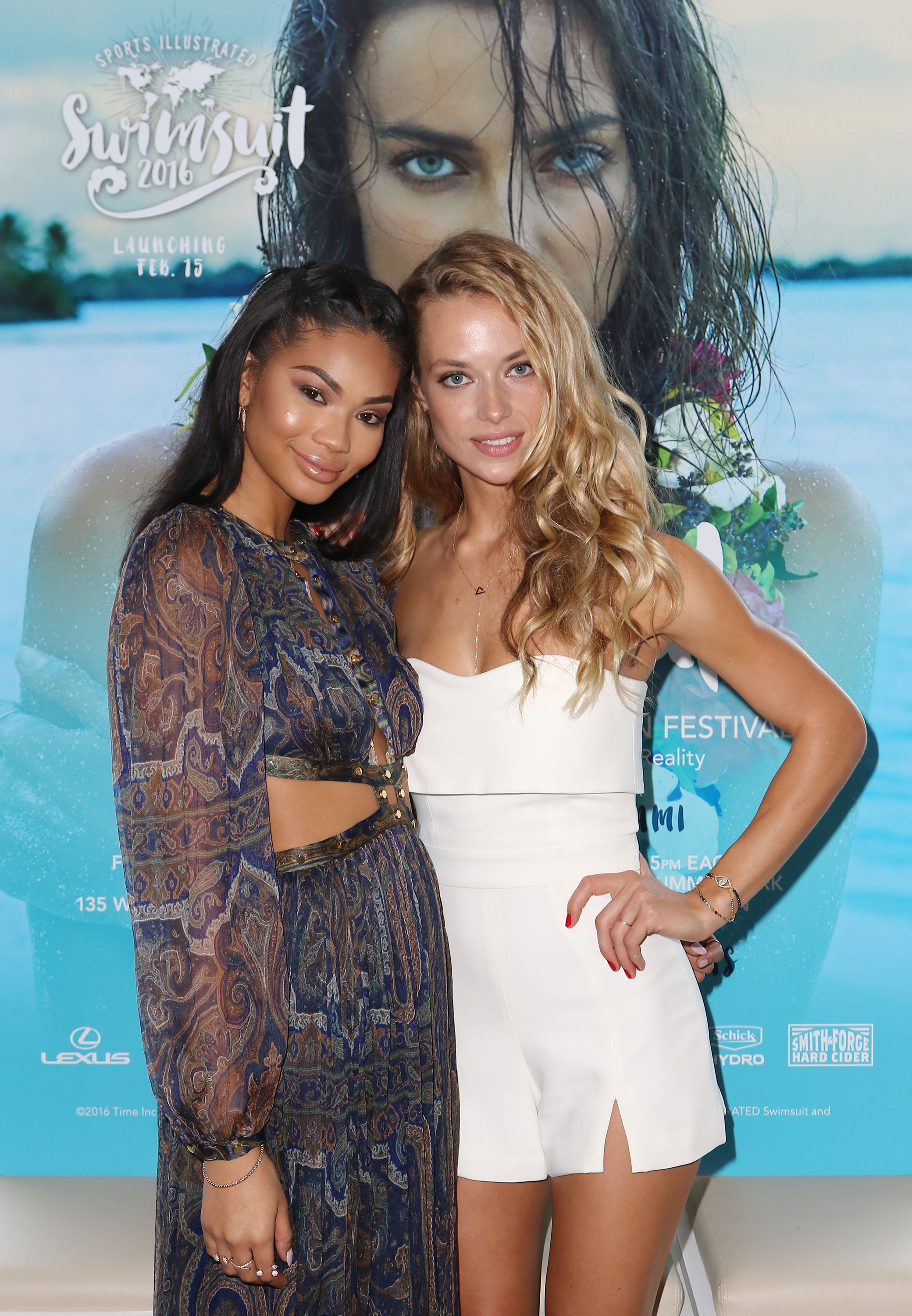 Sports Illustrated Swimsuit Models Hannah Ferguson and Chanel Iman reveal SI Swimsuit 2016 launch week events in Miami at 1 Hotel & Homes South Beach.Photo Credit: Alexander Tamargo/Getty Images for Sports Illustrated