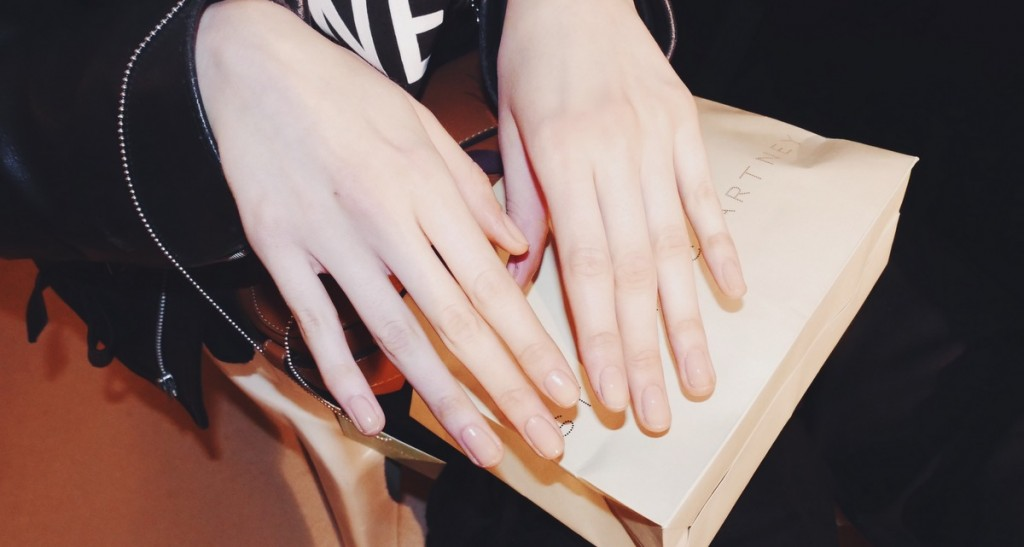 Sally Hansen Perfecting the Natural Nail at Stella McCartney's Winter 2016 Fashion Show at PFW