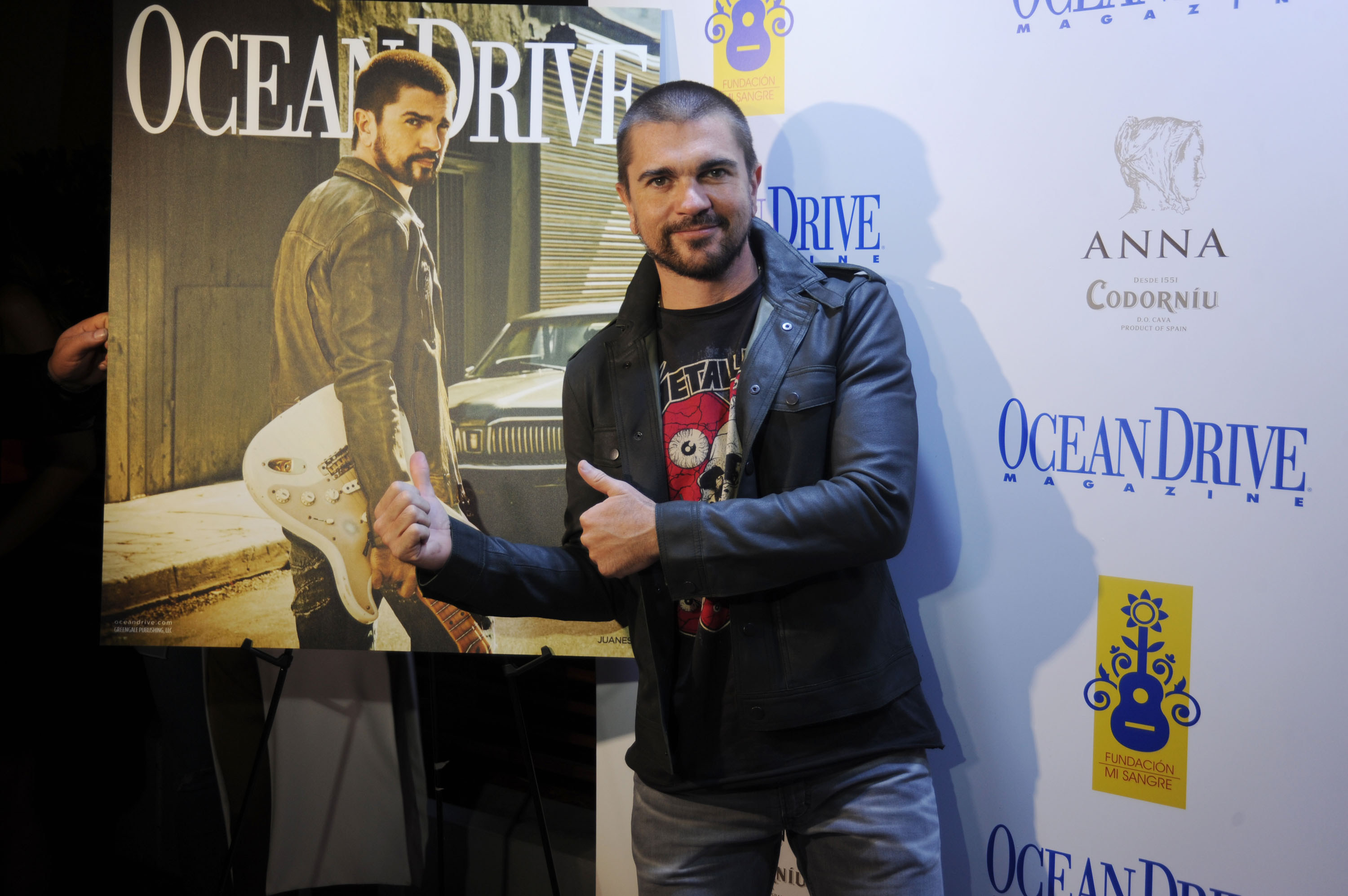 Juanes Celebrated Ocean Drive Magazine Cover Last Night at French 27