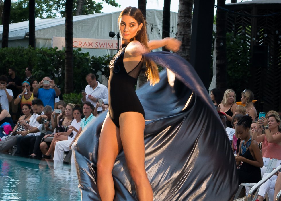 Swim Miami: Gottex struck the runway with bold black pieces
