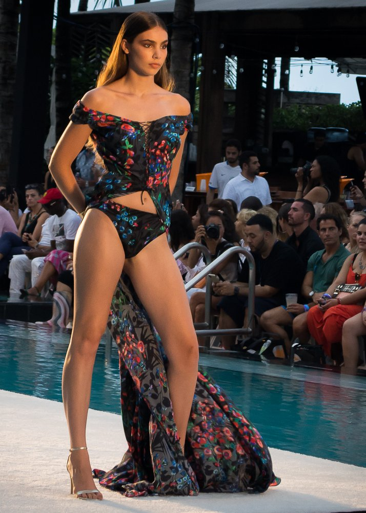Gottex Swimwear struck the runway with bold black pieces at Miami Swim Week.