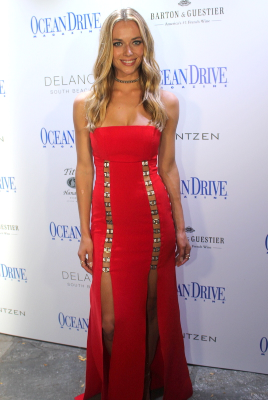 Ocean Drive Magazine Celebrates its Swim Issue with cover star Hannah Ferguson at Delano South Beach