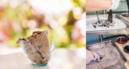 Rolled Ice cream finally in Miami every Sunday at Nikki Beach