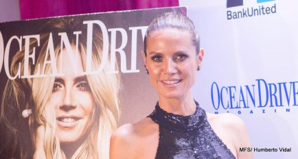 Ocean Drive Magazine and Roche Bobois Celebrate the December Issue with Cover Star Heidi Klum.