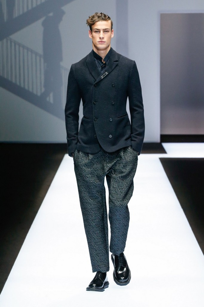 Milan Fashion Week Fall-Winter 2017/2018 Giorgio Armani Menswear