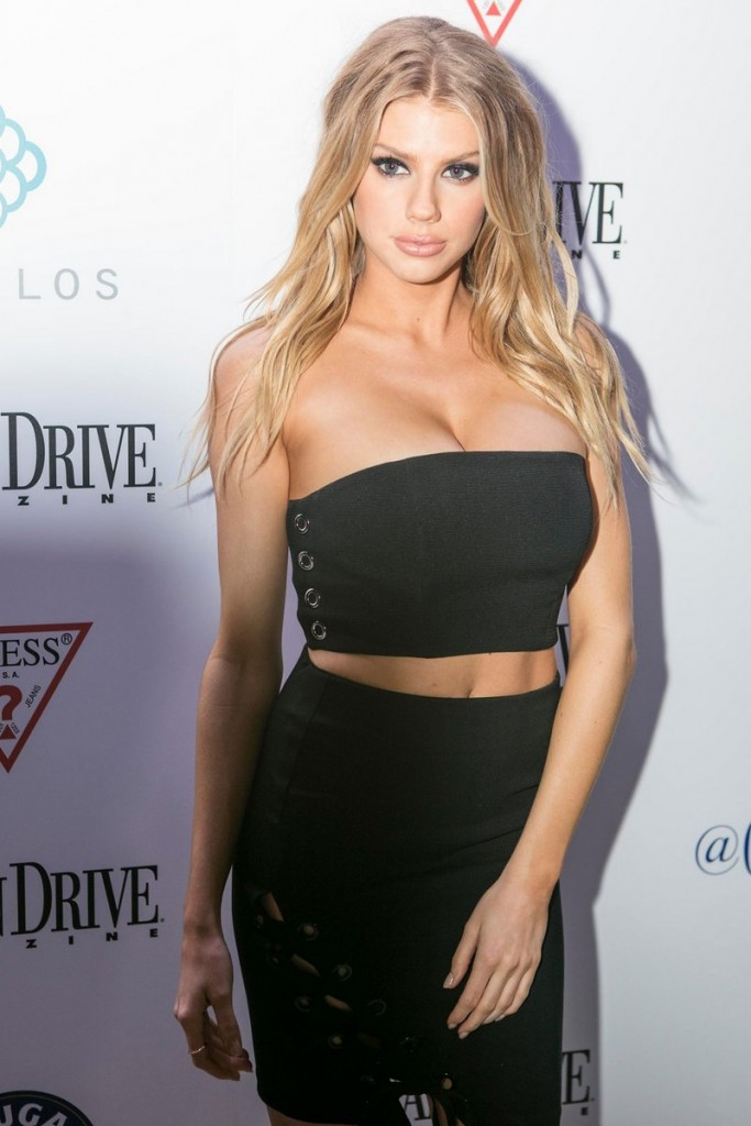 Charlotte McKinney celebrates her cover on the February issue of Ocean Drive magazine at Byblos Miami