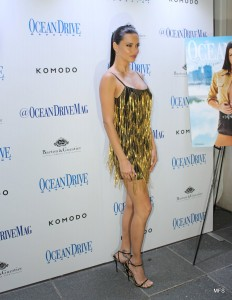 Adriana Lima Celebrates Her Cover of Ocean Drive Magazine's March Issue at Komodo, Miami