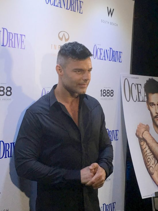 Ricky Martin and Ocean Drive Magazine celebrated October Issue with Puerto Rico hurricane relief benefit at W Hotel South Beach.