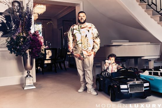 DJ Khaled on the cover of Ocean Drive magazine's April Issue