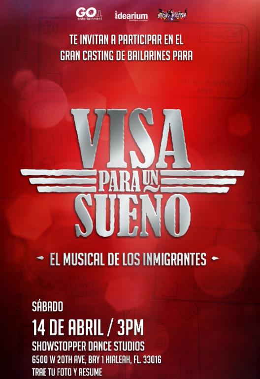 Casting de bailarines para el gran regreso de Visa para un Sueño el musical de los inmigrantes