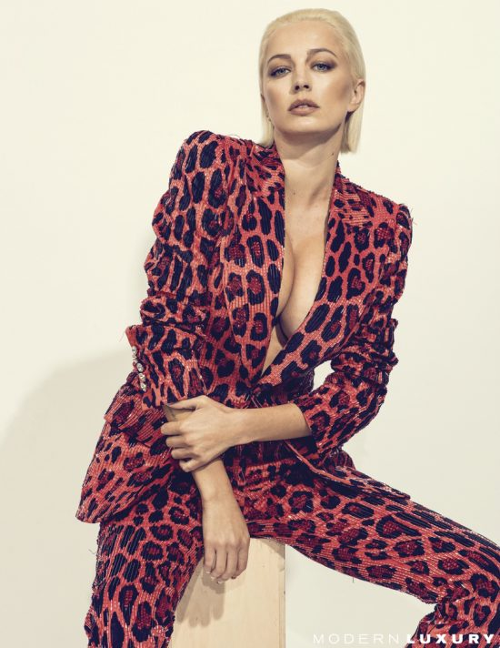 Fashion influencer Caroline Vreeland appears on the October cover of Ocean Drive magazine