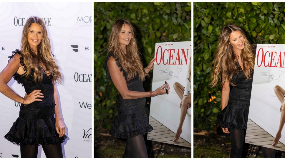 Ocean Drive Magazine celebrates its first issue of 2019 with Elle Macpherson