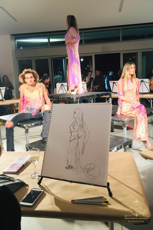 "Session with Viviana Gabeiras at ""Draw: A party with great lines"" event"