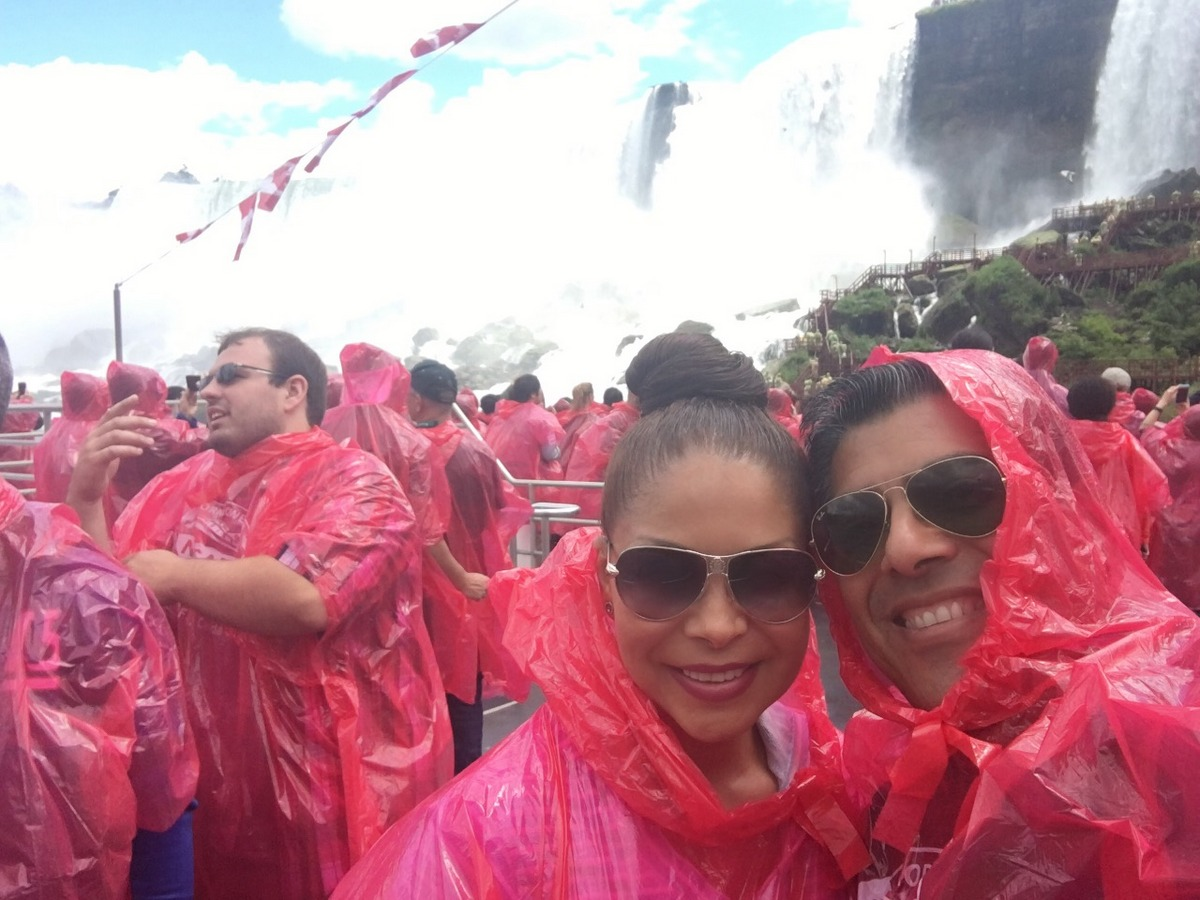 """Doing the """"Voyage Falls Boat Tour"""" by Hornblower Niagara Cruises."""