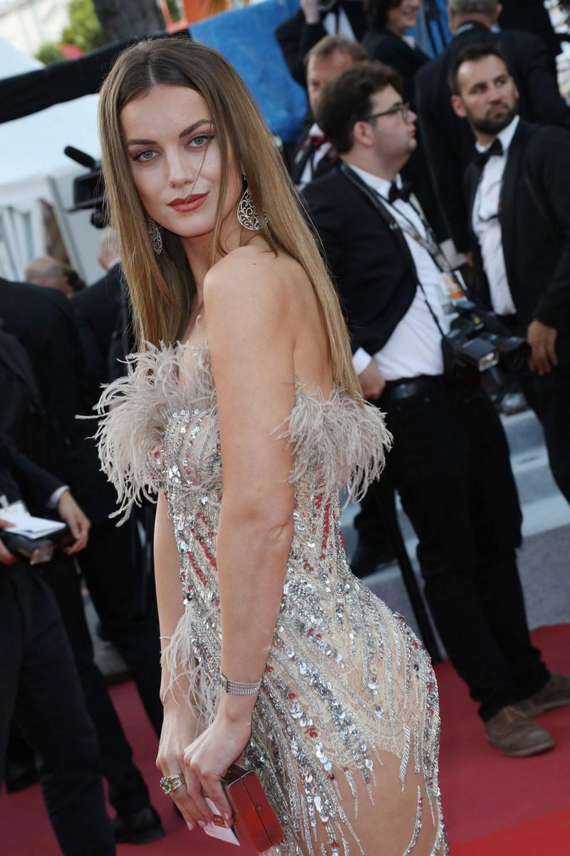 Model Heidi Lushtaku wearing Nedo for the Rocketman premiere