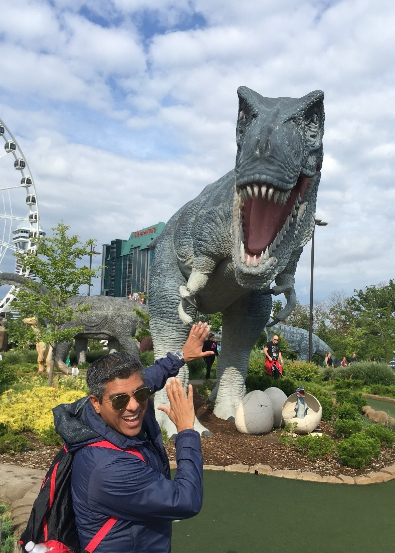 Dinosaur Adventure Golf or Wizards' Golf.