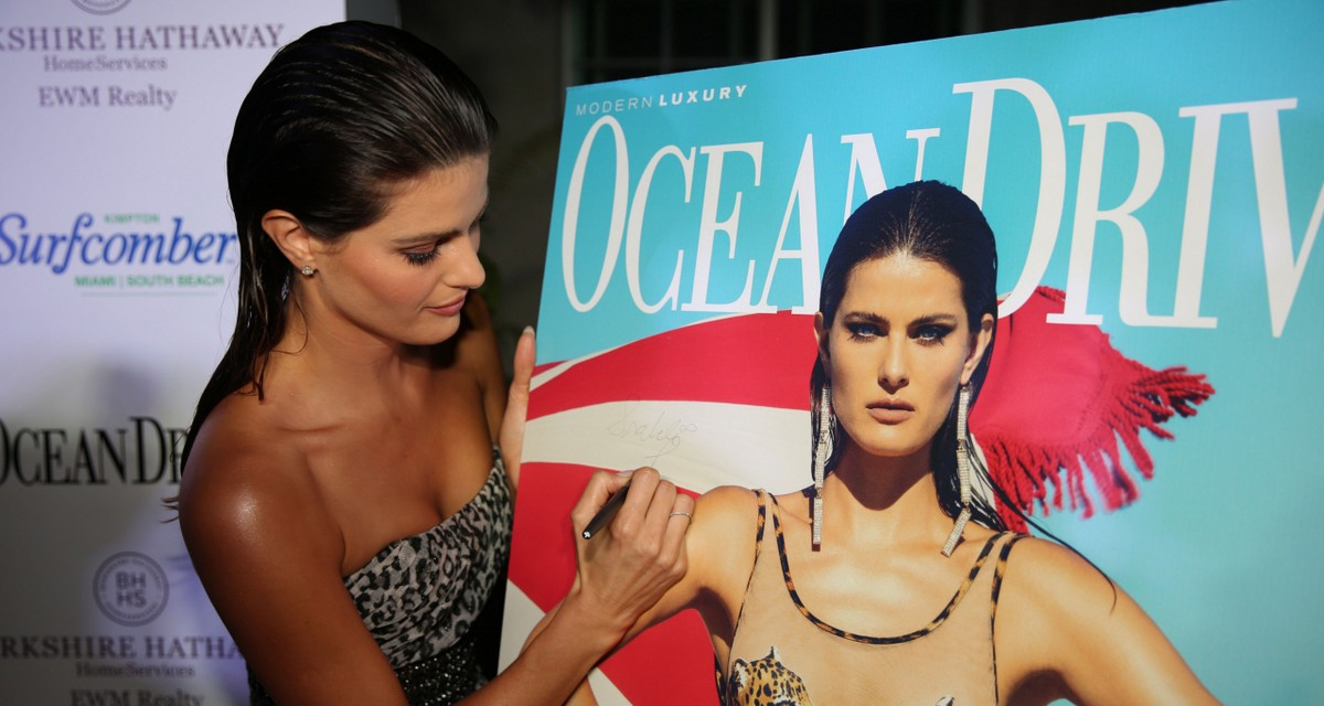 Ocean Drive Magazine Kicked off Miami Swim Week with Supermodel Isabeli Fontana
