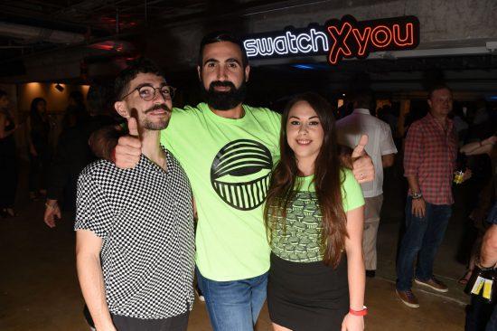 Vinny Nastasi, Dj Woozles and Lindsey Guzman.