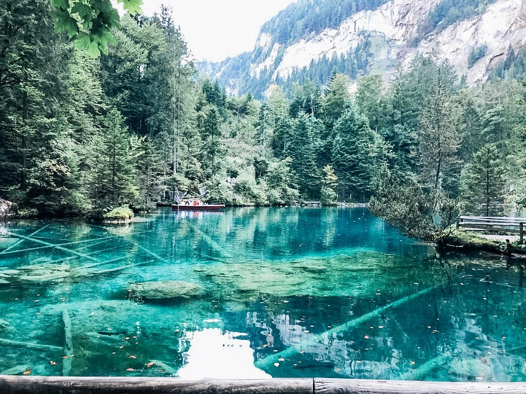 LAKE BLAUSEE, SWITZERLAND.