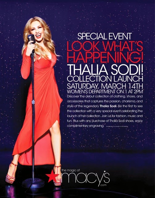 Macy's at International Mall Launches Thalia Sodi Collection: March 14