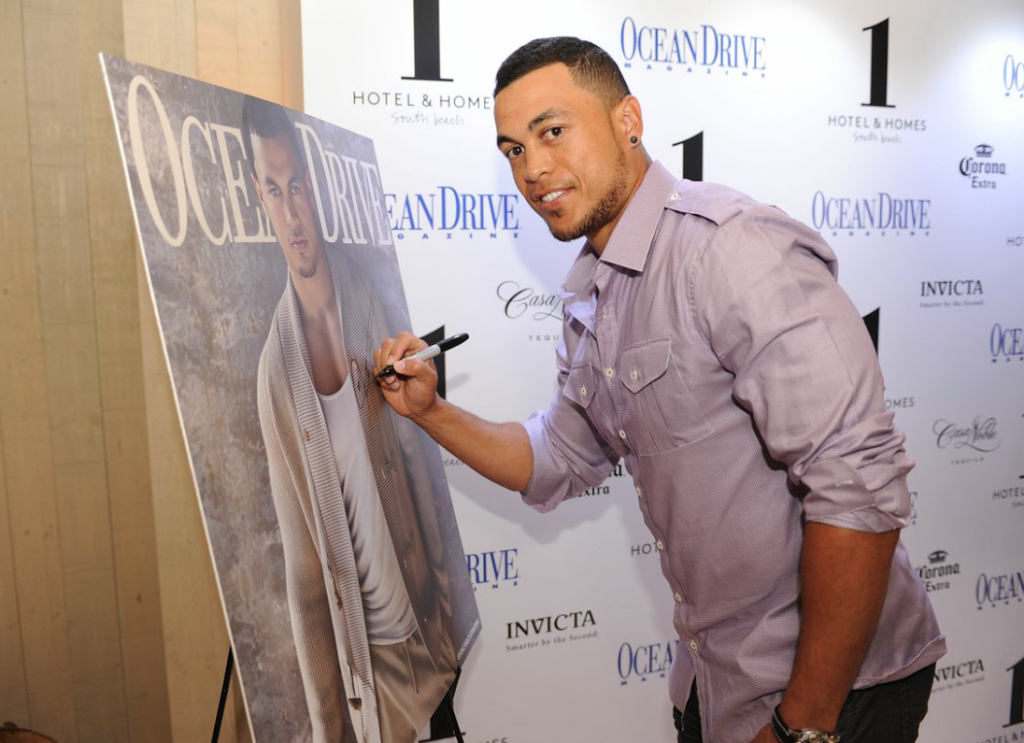 Miami Marlin's All-Star Giancarlo Stanton Joined Ocean Drive Magazine to Celebrate His April Cover at 1 Hotel & Homes South Beach
