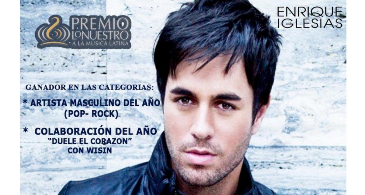 Enrique Iglesias ganador de dos 'Premios lo Nuestro'