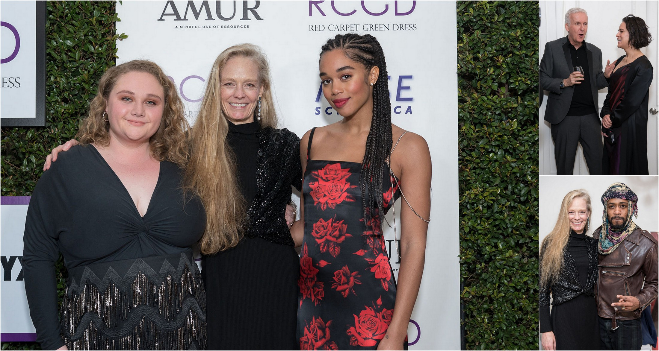 James Cameron, Laura Harrier, Danielle Macdonald, LaKeith Stanfield, Michelle Rodriguez and More Celebrate Red Carpet Green Dress 10 Yr Anniversary